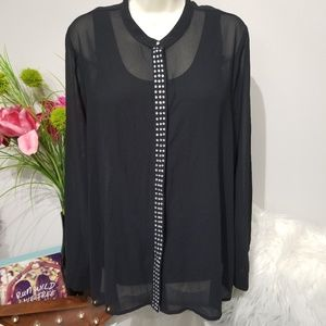 New Directions shirt size Large black NWT